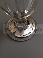 Wine glass engraved label